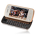 nooc N97 Style Golden Dual Card Quad Band Dual Camera TV Function Flat Touch Screen Cell Phone Brown