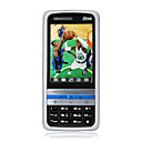 ZTE i658 Dual Card Flat Touch Screen Cell Phone Black and Silver (2GB TF Card)