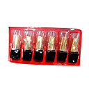6 Colors VERRI Lipstick Set With Vitamin C - Black and Crystal Packaging(TSLR1023-9)