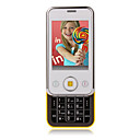 S638 Dual Card Dual Standby Cell Phone White and Yellow (2GB TF Card)