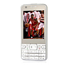 ZOHO W901 Dual Card Dual Camera Quad Band WIFI TV Function JAVA Touch Screen Cell Phone White (2GB TF Card)