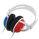 3.5mm High Fidelity Fashion Design Over-the-Head Headphone with Microphone Red&Blue(SZM1168)