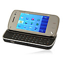 MINI N97 Style Quad Band JAVA QWERTY Keypad Touch Screen Slide Cell Phone Black (2GB TF Card)