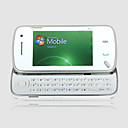 N97 Style Windows Mobile 6.1 WIFI JAVA QWERTY Keypad Bluetooth Dual Camera 3.0 Inch Flat Touch Screen Cell Phone White (2GB TF Card)(SZ05150689)