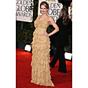 Jennifer Morrison Sheath/ Column V-neck Floor-length Sleeveless Chiffon/ Elastic satin Golden Globe/ Evening Dress (FSH0558)