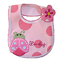 One-Piece Pink Beetle Baby Bib - Waterproof