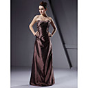 Sheath/ Column Strapless Taffeta Bridesmaid/ Wedding Party Dress (HSX869)