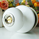 High Quality Ceramic Door Knob with Lock (Porcelain Door Knob) (0768-W07-SST BK)