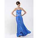 Sheath/ Column Sweetheart Floor-length Elastic Silk-like Satin Bridesmaid/ Wedding Party Dress (HSX174)