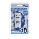 Rechargeable Battery Pack (2800mAh) for Wii/Wii U Remote Controller