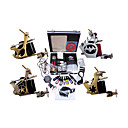 Livraison gratuite Kit Professionnel TATTOO MACHINE srie complte avec 4 mitrailleuses tatouage (0359-02.07-B004)