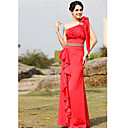 Sheath/ Column One Shoulder Floor-length Sleeveless Elastic satin Quick Delivery Dress (OFGH0332)