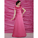 A-line Floor-length Satin Mother of the Bride Dress