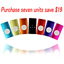 1GB Fashion Design MP3 Player - Seven pieces per package/Seven Color