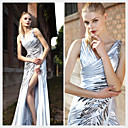 Trumpet / Mermaid V-neck Ankle-length Sleeveless Elastic satin Quick Delivery/ Evening Dress (OFGC382)