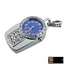 Steering Silver Watch Jewelry USB Flash Drive - Optional Memory From 2 GB to 16 GB (SMQ4635)