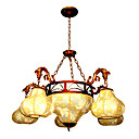Elegant Pumpkin 5-light Hanging Chandelier(0860-J1159-5+3)