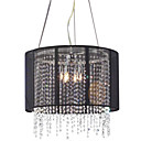 Chrome And Black 5-light Crystal Chandelier(0863-4552)
