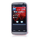tv5530 dual card dual quad band fotocamera con flat tv touch screen del telefono cellulare nero (2GB TF card) (sz00720738)