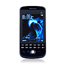 P900 Dual Card TV Trackball Touch Screen Cell Phone Black(2GB TF Card)