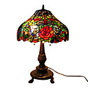 Tiffany-style Dragonfly Rose Table Lamp(0923-T6)