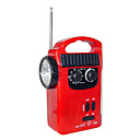 4-in-1 Solar Dynamo Flashlight with AM/FM Radio and Siren (QW091)