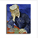 Stretched Canvas Handmade Dr.Paul Gachet,c.1890 Painting by Vincent Van Gogh  0192-YCF103228