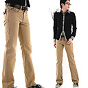 New Arrival Men's Long Straight Leg Relaxed Fashion Black Beige Yellow Cotton Pant (0531-5.31-131)