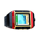 W08 Water Resistant Qaud Band Bluetooth Mp3 / Mp4 Player Watch Cell Phone Red and Gold (2GB TF Card)
