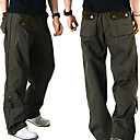 New Arrival Men's Long Straight Leg Relaxed Fashion Blue Dark Grey Beige Yellow Cotton Pant (0531-5.31-134)