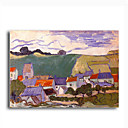 Stretched Canvas Handmade Veduta di Auvers Painting by Vincent Van Gogh  0192-YCF103205