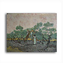Stretched Canvas Handmade The Olive Pickers,Saint-Remy,c.1889 Painting by Vincent Van Gogh  0192-YCF103199