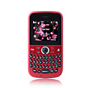 K900 Low Price Dual Card Torch FM Radio QWERTY Keypad Cell Phone Red(2GB TF Card)