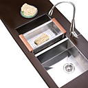 34 inch Undermount Stainless Steel Kitchen Sink (Double bowl)