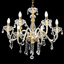 6-lumire de bougie k9 lustre de cristal (0944-hh11018)
