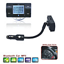 carro mp3 player bluetooth viva-voz - transmissor de FM com controlo remoto de volante - suporte a cartão SD - flash USB - fm8100 (szc5669)