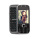 e75 dual placa de tv quad band wifi java celular qwerty teclado preto (2GB TF) (sz09890044)