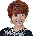 Capless Short High Quality Synthetic Nature Look Auburn Straight Hair Wig