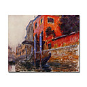 Handmade The Red House Painting  by Claude Monet Stretched Ready to Hang(0192-YCF103522)