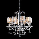 Contemporary Crystal Chandelier with 8 Lights (Chrome Finish)