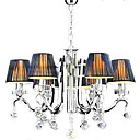 Iron Chrome 6-light K9 Crystal Chandelier With Lamp Shade (0835-AD88117)