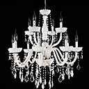 Iron Chrome 12-light K9 Crystal Chandelier (0835-AD88107)