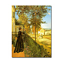 Stretched Handmade Louveciennes The Road to Versailles  1870 Painting  by Camille Pissarro (0192-YCF103898)