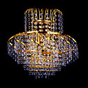 2-light K9 Crystal Gold Color Bright Chrome Wall Sconce (1069-J9871-B2)