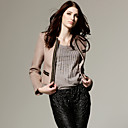 Classic Style Chains Decorated Long Sleeves V Neckline Coat / Women's Outerwears (FF-D-BL0736009)