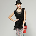 Front Beaded Special Fabrics Layered Hem Dress / Women's Dresses (FF-D-CA1270013)