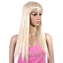 Capless Extra Long High Quality Synthetic Light Blonde Straight Hair Wig