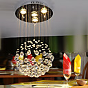 Chrome Finish Crystal Pendant Chandelier with 4 lights - Ball Shape Design