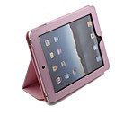 Protective Hard PU Leather Case + Stand for Apple iPad (Pink)