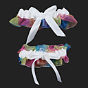 2-Piece Rainbow Organza With Satin Bowknot Wedding Garters